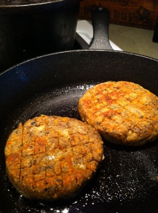 veggie burger cooked